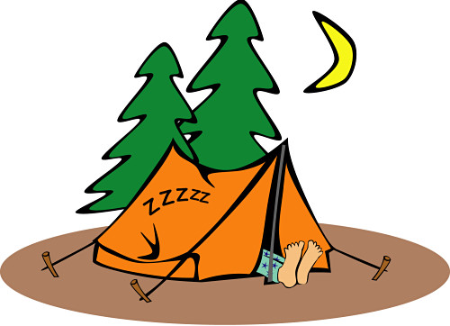 Camp clipart. Maps trip planning fees