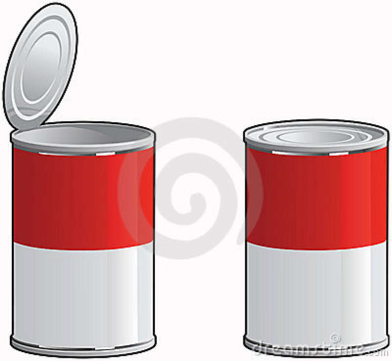 Canned soup pencil and. Can clipart