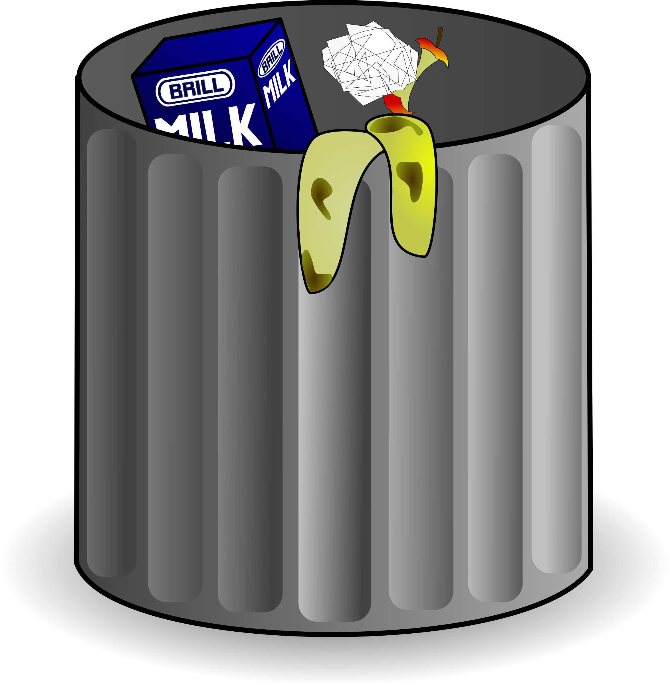 Can clipart cartoon. Trash big image png