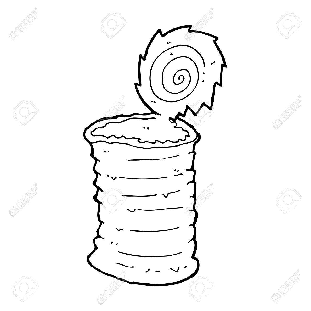 Black and white free. Can clipart cartoon