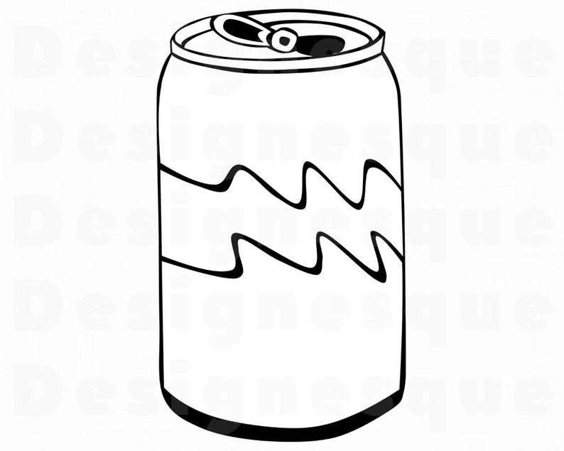 Soda svg files for. Can clipart clip art
