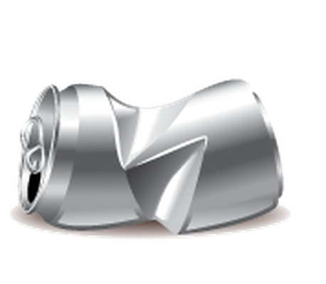 Can clipart crushed. Garbage icons detailed aluminum