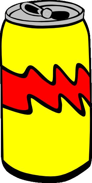 Pop clipart. Yellow can clip art