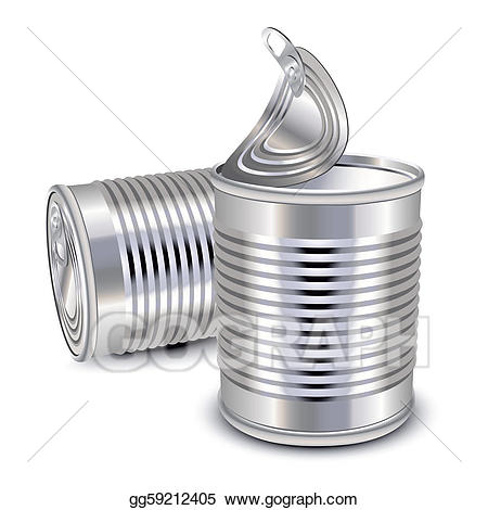 Can clipart tin. Eps illustration food cans