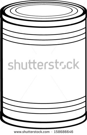 Can clipart tin. Black and white station