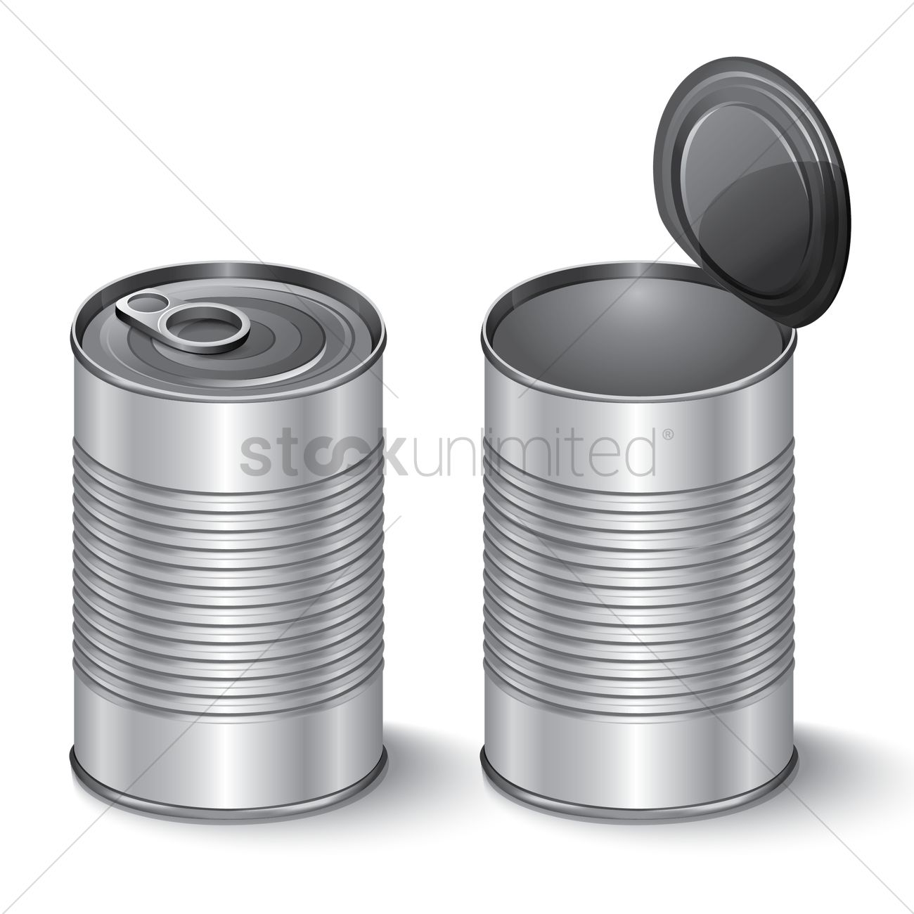 Can clipart tin. Station