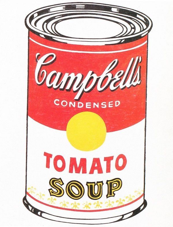 Can clipart tomato soup. Andy warhol campbell s
