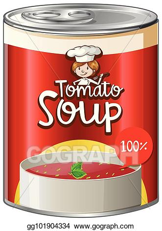 Can clipart tomato soup. Vector stock in aluminum