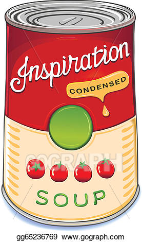 Can clipart tomato soup. Vector art of condensed