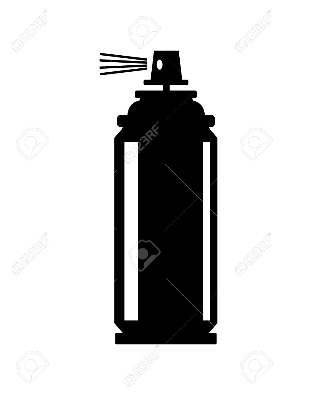 Spray silhouette at getdrawings. Can clipart vector