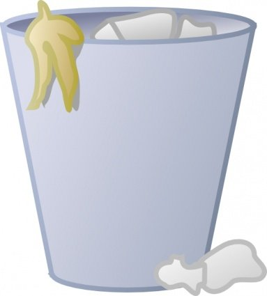 Free full trash and. Can clipart vector