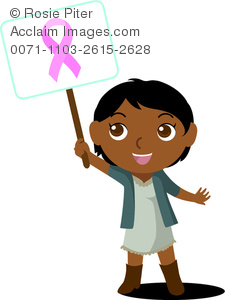 Image of girl child. Cancer clipart