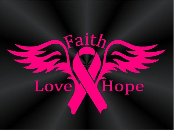 Cancer clipart angel. Breast decals faith love