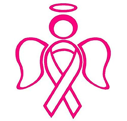 Cancer clipart angel. Amazon com ribbon decal