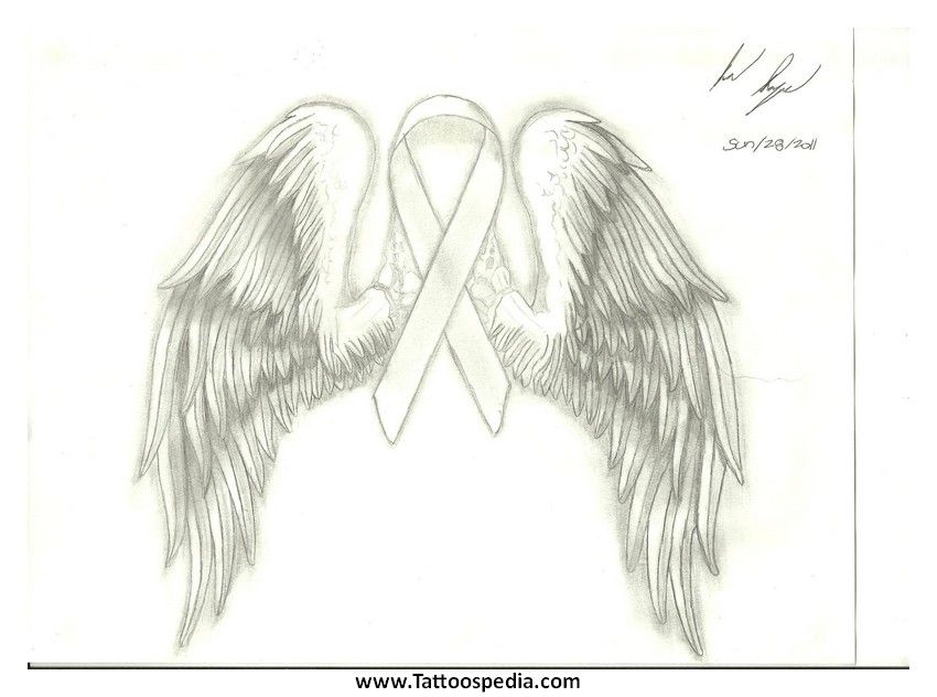 Cancer clipart angel. White tattoo of lung