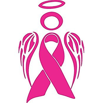 Cancer clipart angel. Amazon com breast wings