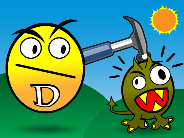 Vitamin d smashes clip. Cancer clipart animated