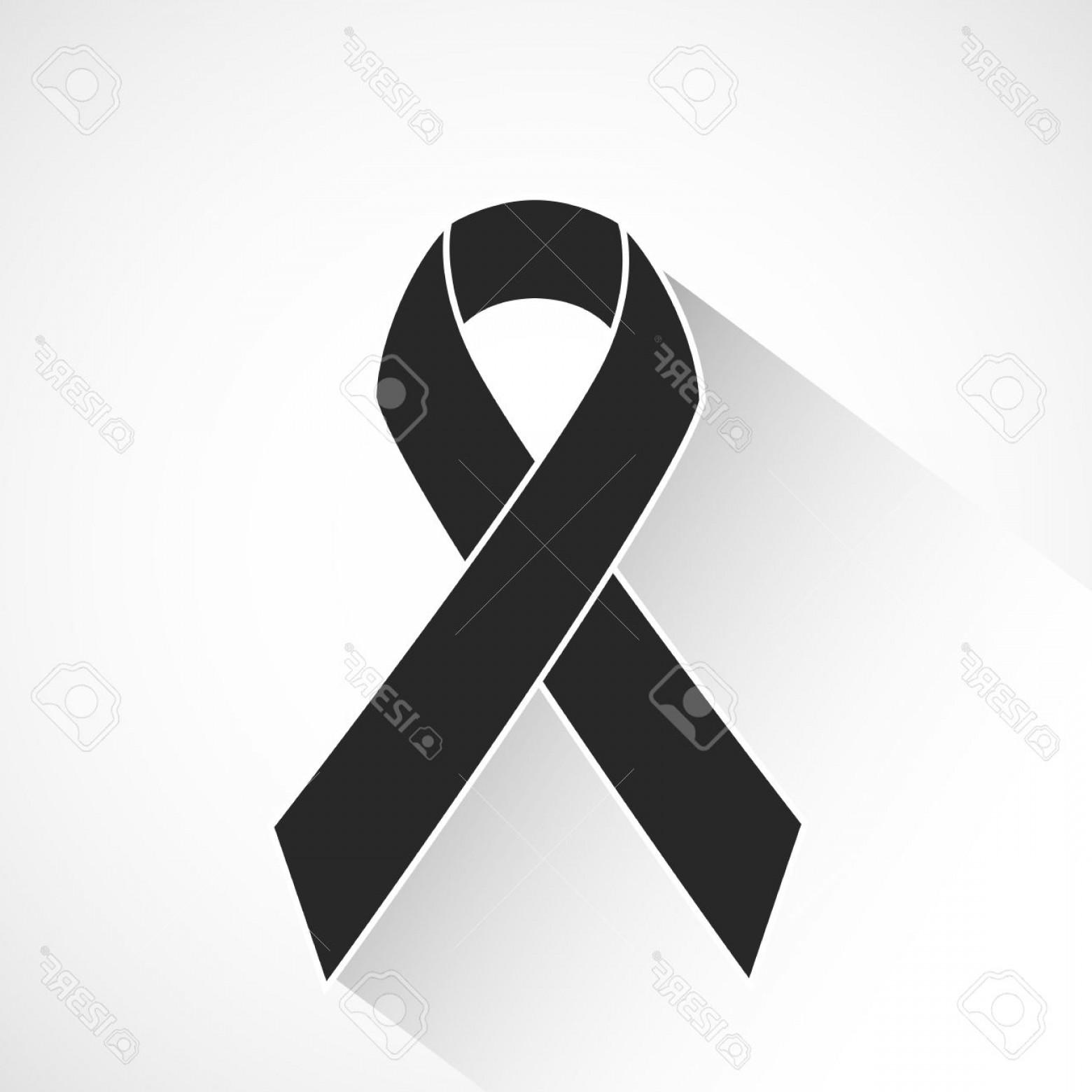Ribbon portal . Cancer clipart black and white