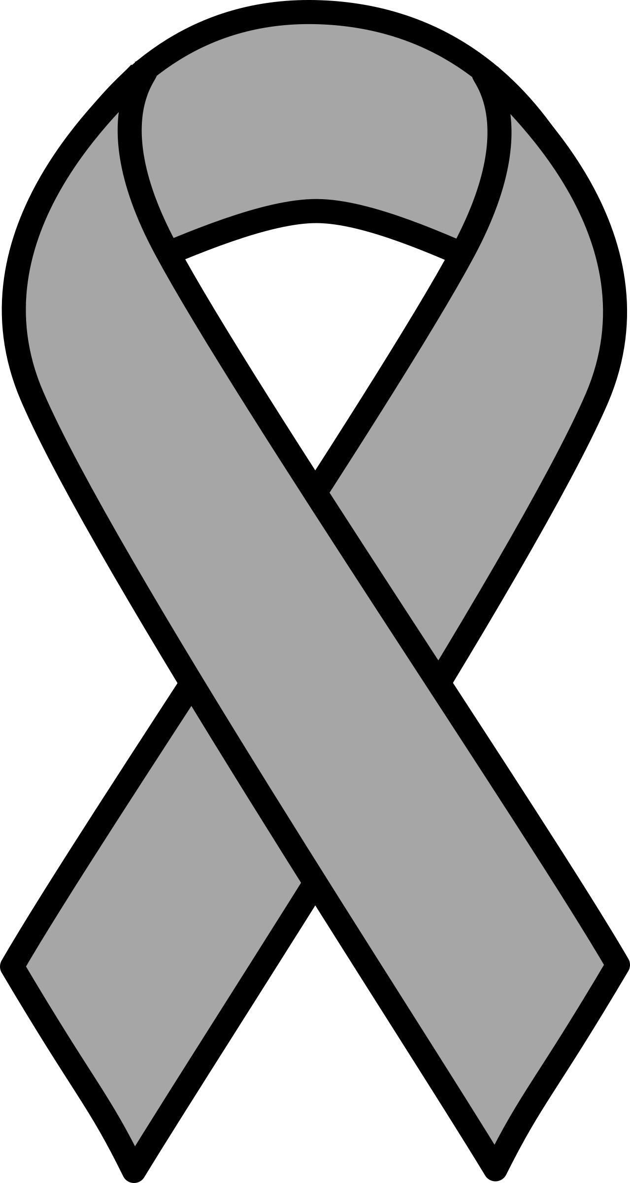 Cancer clipart black and white. Orange kidney leukemia ribbon