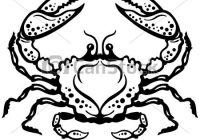 Crab or astrological zodiac. Cancer clipart black and white