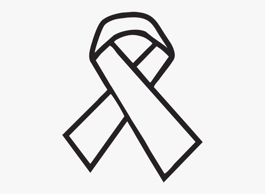 Cancer clipart black and white. Breast ribbon ribbons clip