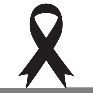 Ribbon free images at. Cancer clipart black and white