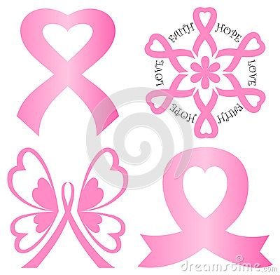 Breast best awareness info. Cancer clipart bow