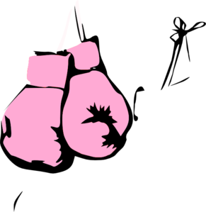 Cancer clipart boxing glove. Pink gloves clip art