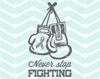 Fight like a city. Cancer clipart boxing glove