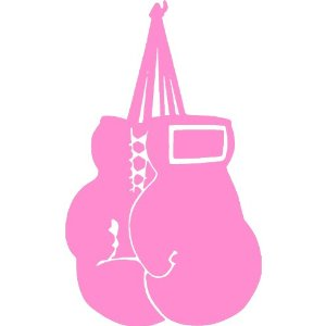 Cancer clipart boxing glove.  collection of pink