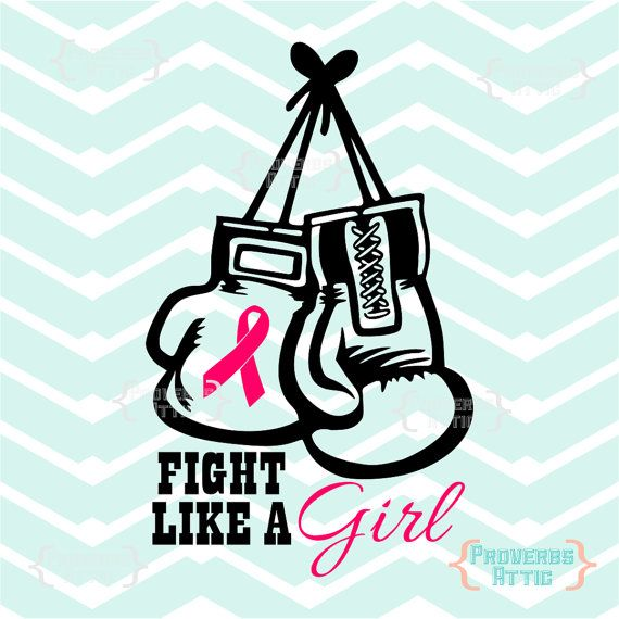 Fight like a girl. Cancer clipart boxing glove