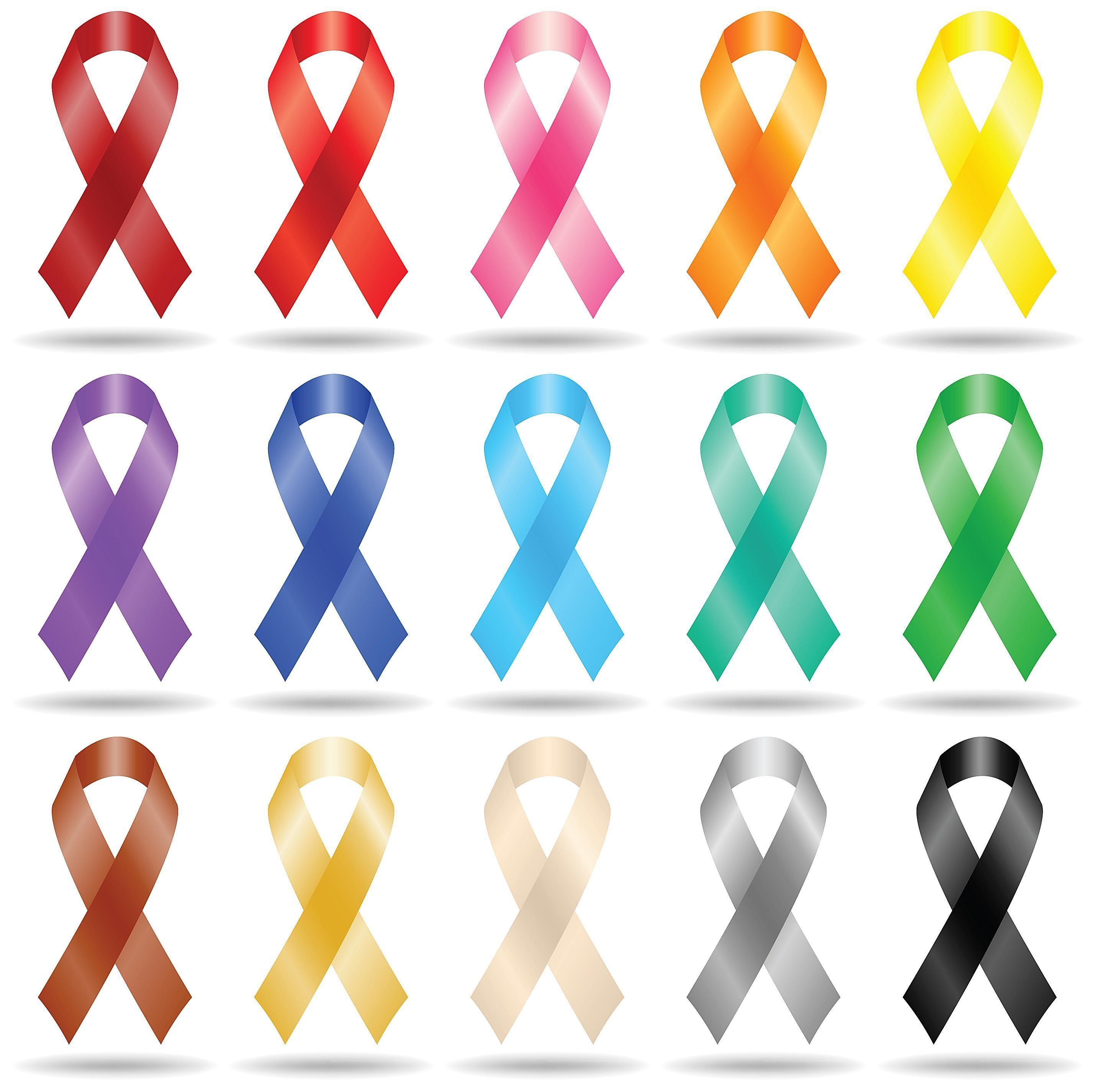 Cancer clipart brain cancer. Ribbon nice design orange