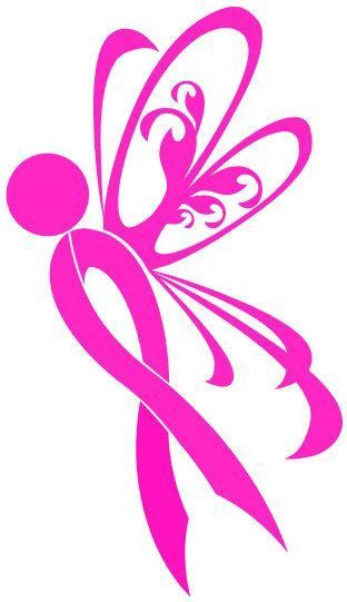 Cancer clipart butterfly. Breast ribbon vinyl decal