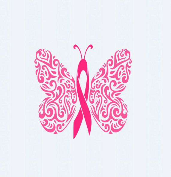 Cancer clipart butterfly. Filigree awareness ribbon svg