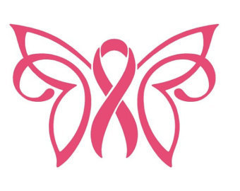 collection of ribbon. Cancer clipart butterfly