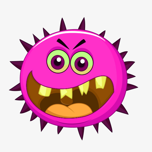 Cartoon map bacterial germ. Cancer clipart cancer cell