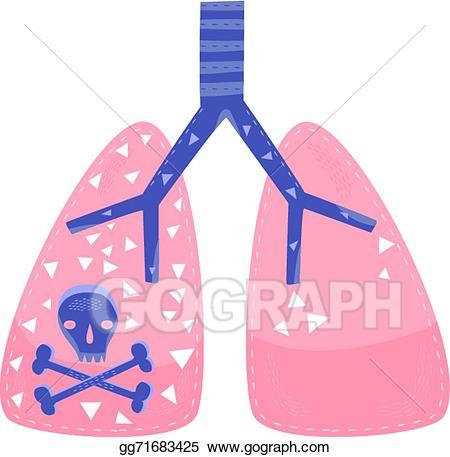 Vector art lung eps. Cancer clipart cancer disease