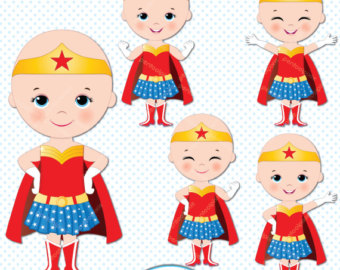 Cancer clipart cancer kid. African american superhero girls