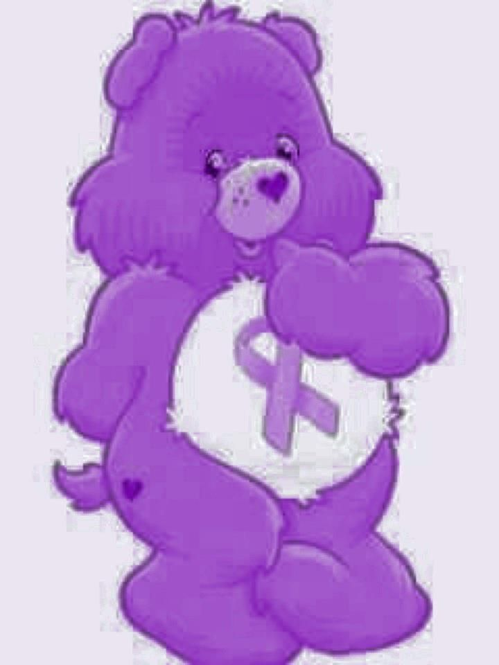 Cancer clipart cartoon. Awareness bears purple ribbon