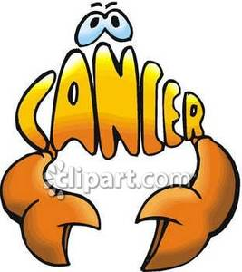 Cartoon Cancer Sign With a Crab