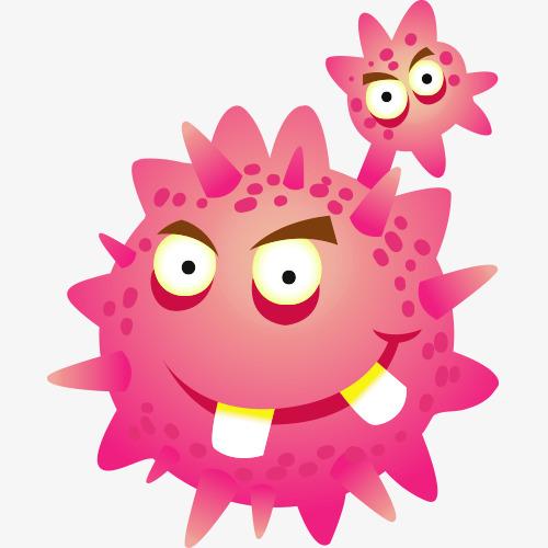 Cancer clipart cartoon. Cell png vectors psd