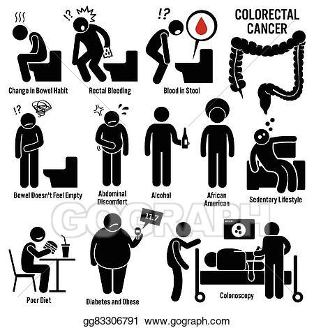 Cancer clipart cartoon. Eps vector colon and