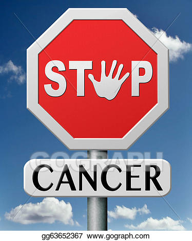 Cancer clipart causes cancer. Stock illustration stop gg