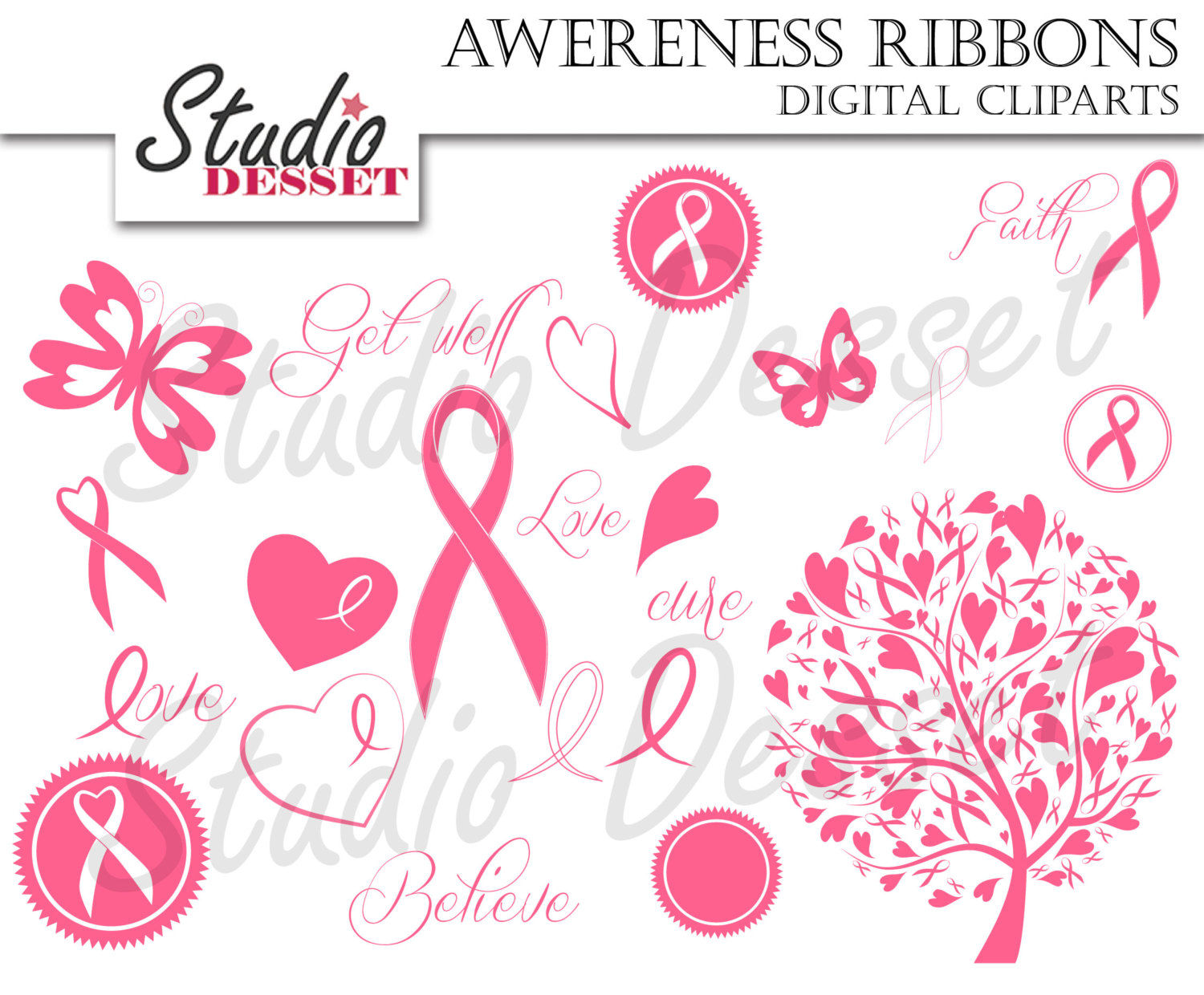 Cancer clipart causes cancer. Awareness ribbon breast ribbons