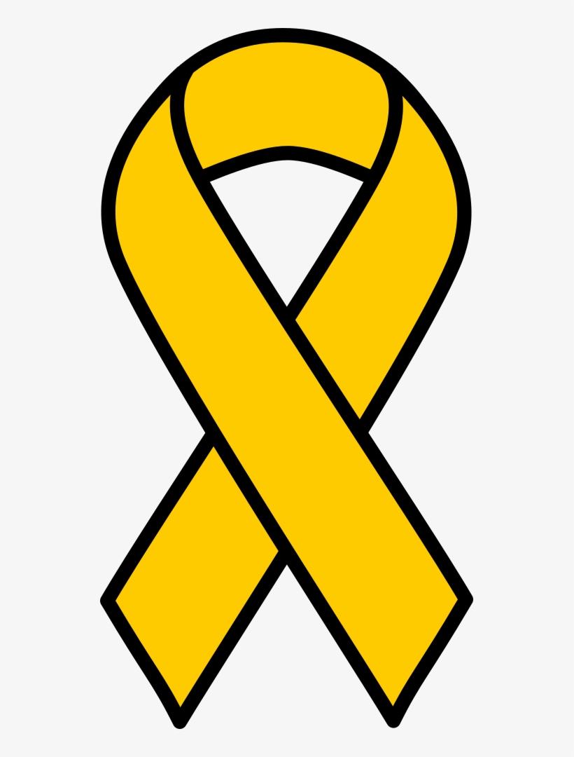 Gold childhood ribbon . Cancer clipart child cancer