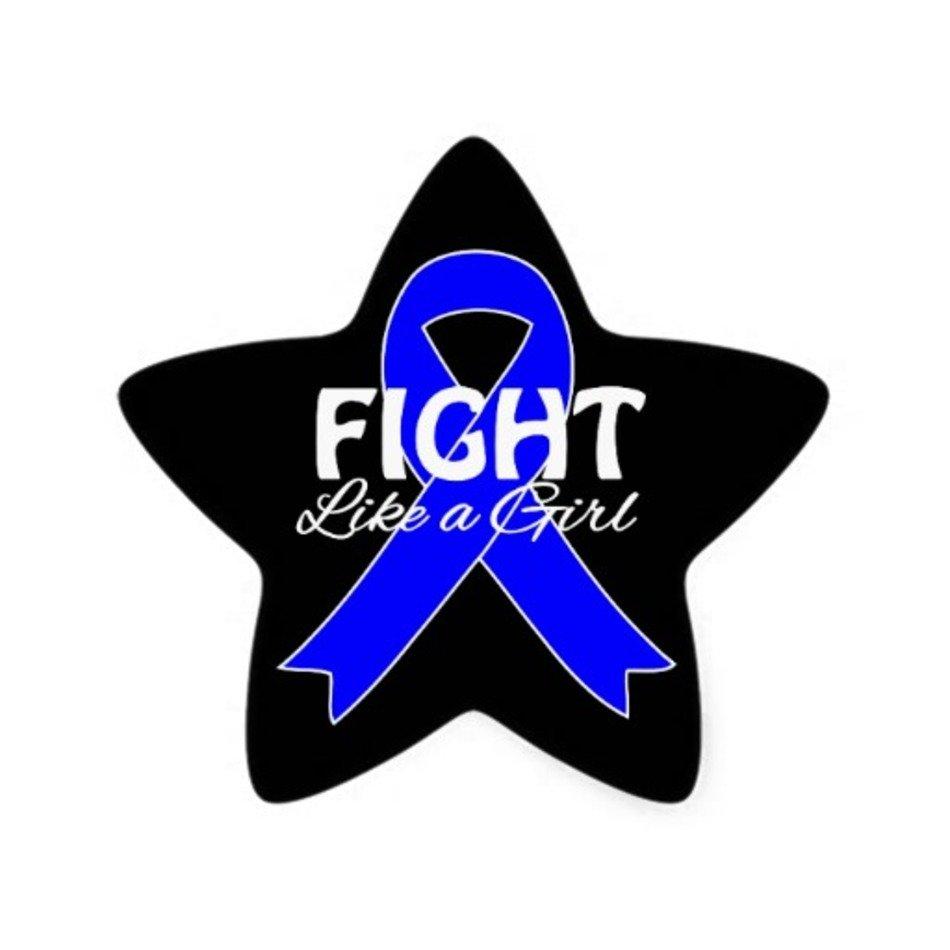 Cancer clipart colon cancer. Blue star ribbon free