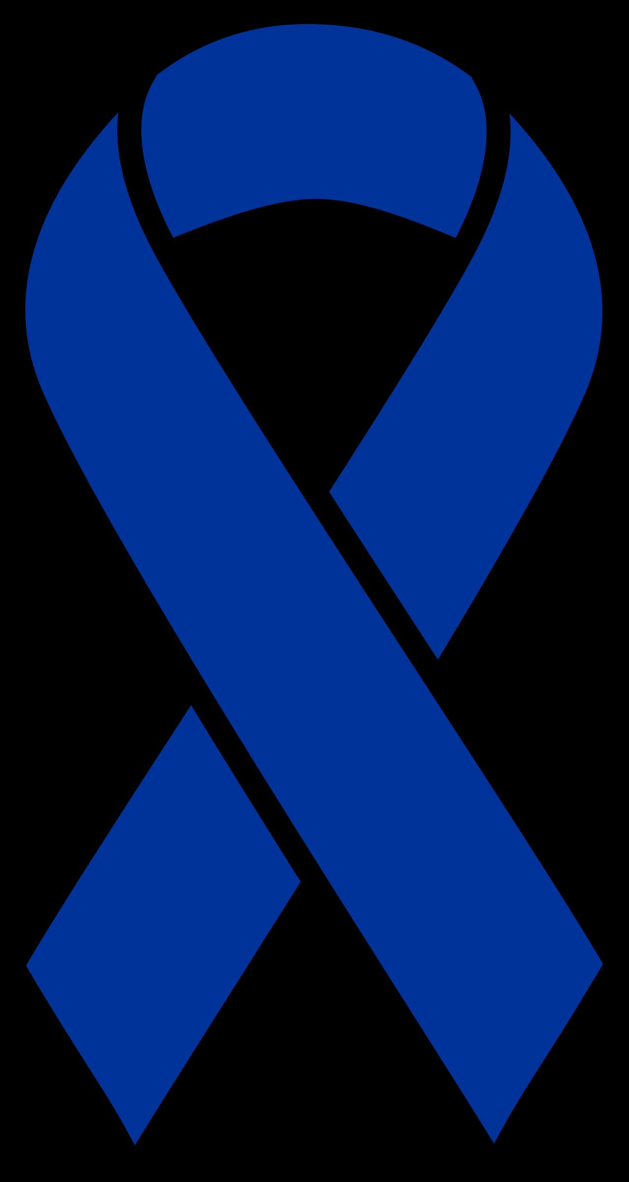 Blue ribbon big image. Cancer clipart colon cancer