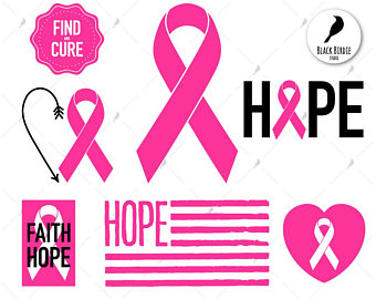 Cancer clipart cure cancer. Pink ribbon svg etsy