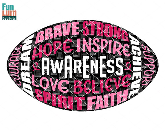 Svg breast awareness svgcancer. Cancer clipart football