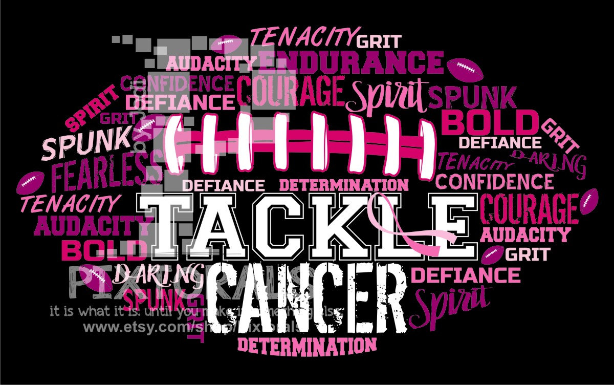 Tackle design breast awareness. Cancer clipart football